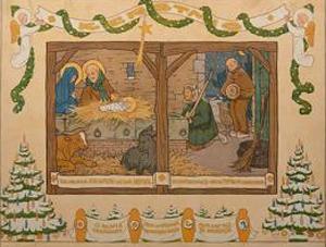 Wandplaat kerstmis